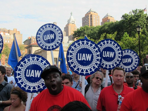 Unions rally for locked-out Con Ed workers, Local 1-2, Union Square: UAW