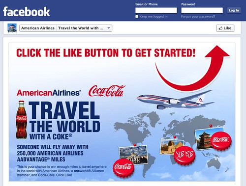 American Airlines Facebook promo