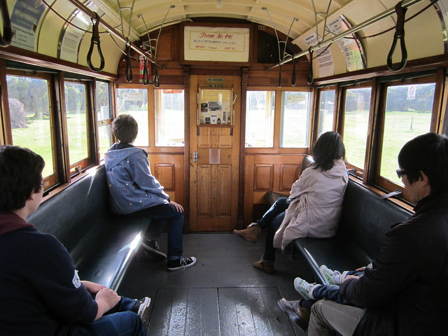 Inside tram 441, Whiteman Park, Perth