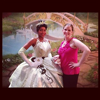 I'm a princess with Tiana! My girls are going to be jealous. #disneyniteatl