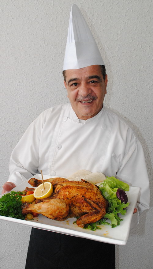 Chef Ebrahim Mohd from Syria spealizes in Arabic Cuisine