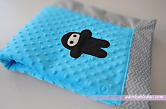 DIY ninja baby blanket with mitered corners