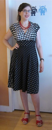 McCall's 6070 polka dot dress