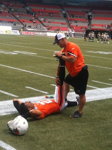 BC Lions pre game