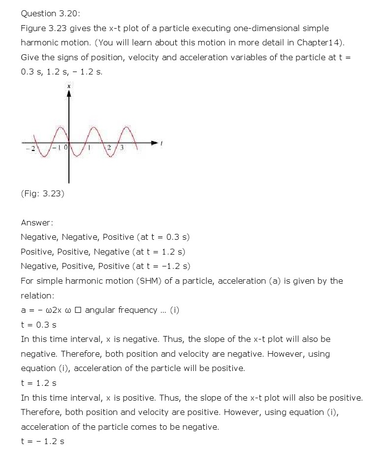 NCERT Solutions for Class 11th Physics Chapter 3 - Motion in a Straight Line