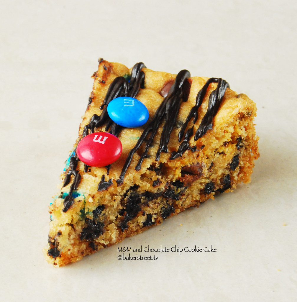 M&M and Chocolate Chip Cookie Cake from bakerstreet.tv