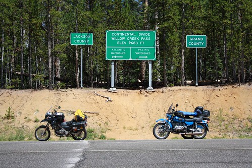 The bikes at the Continental Divide