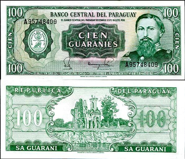 100 Guaranies Paraguaj 1982, Pick 205