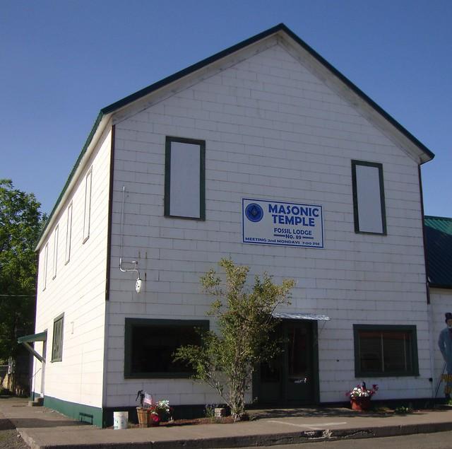 Masonic Temple Building Denver Colorado: Masonic Temple (Fossil, Oregon)