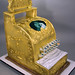 Vintage Cash Register 50th Wedding Anniversary cake by marksl110