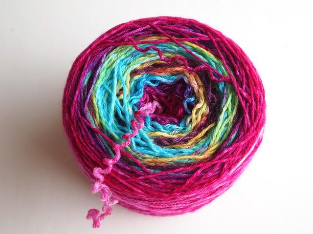 FCK dyed sock blank yarn
