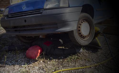 Me under car