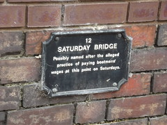 Photo of Saturday Bridge black plaque