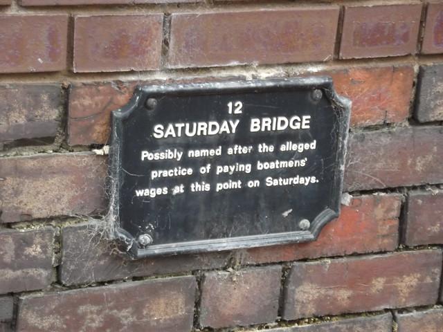Photo of Saturday Bridge black plaque