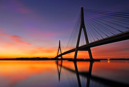 Guadiana bridge sunset
