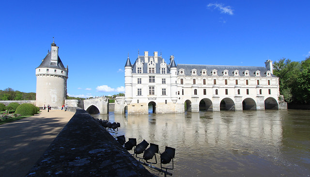 Château de Chenonceau in the Loire Valley, France.