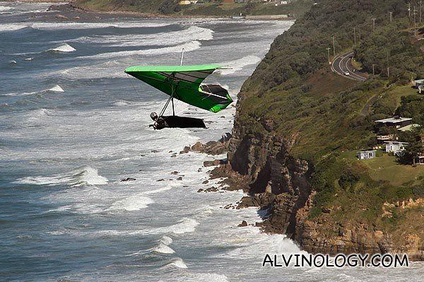 Close-up of a hang-glider