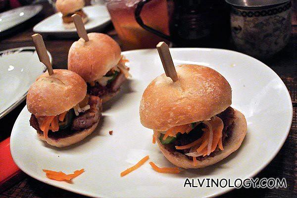 Mini bánh mì- crisp pork belly or chicken katsu (AUD$6 each)