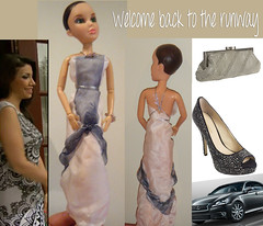 Dress for Irina; Nebula Grey Pearl Lexus