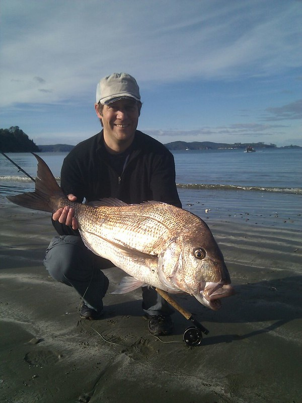 Tom with 8kg Snapper