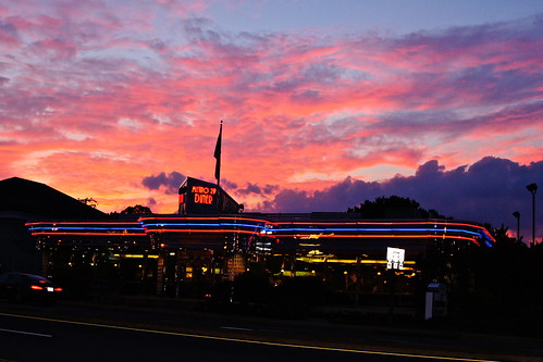 real color photo of Metro 29 Diner (Arlington, VA) about 8pm on August 6th