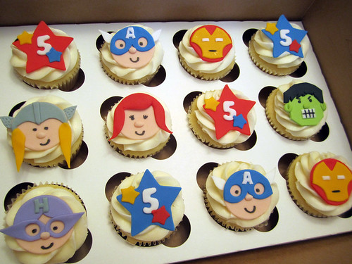 Avengers Birthday Cupcakes