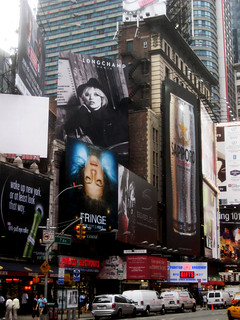 Fringe TV show poster billboard in Times Square 8570