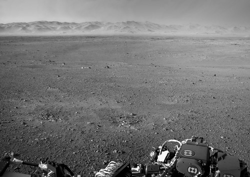 MSL - Left Navcam mosaic by Mick Hyde