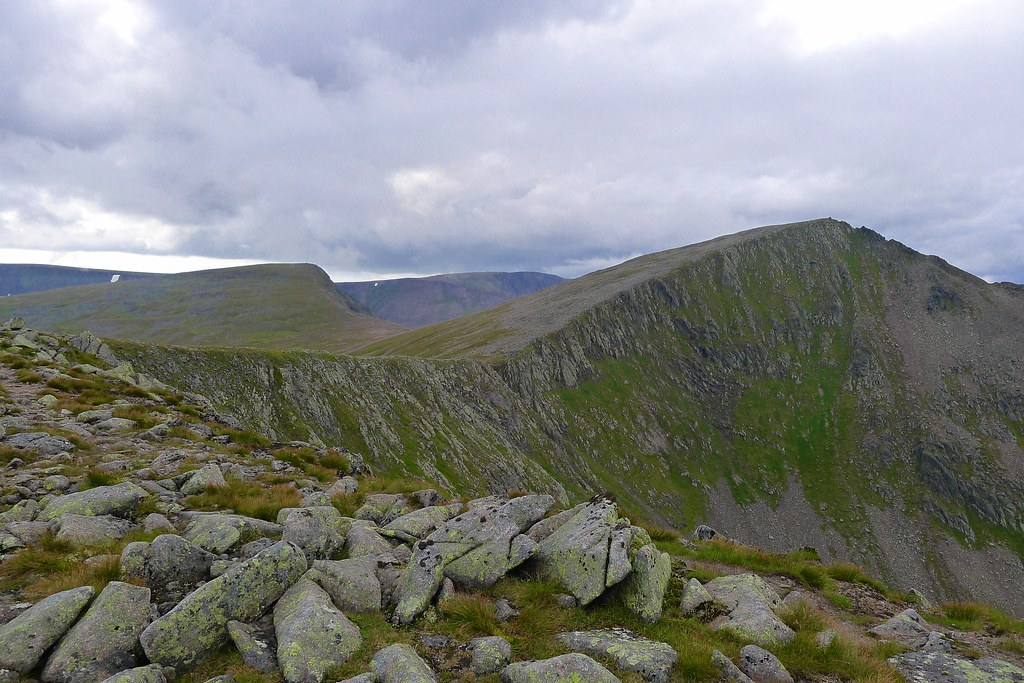 Looking back to Cairn Toul