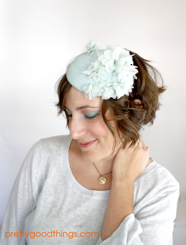 mermaid garden party cocktail hat