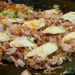 Okonomiyaki Street Food - Tokyo, Japan