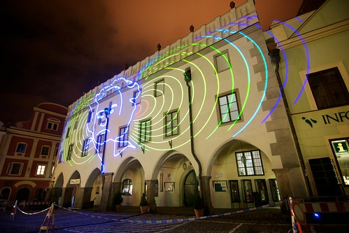 Laser Show in the Town Square