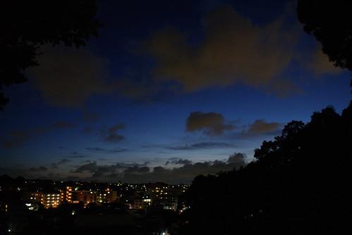 夕暮れの山手地区