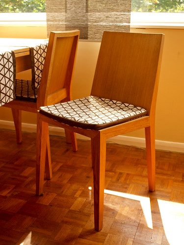 Dining chair cushion cover