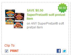 $0.50/1 Superpretzel Soft Pretzel Item Coupon