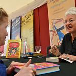 Jacqueline Wilson book signing for a fan | Jacqueline Wilson meets a young reader