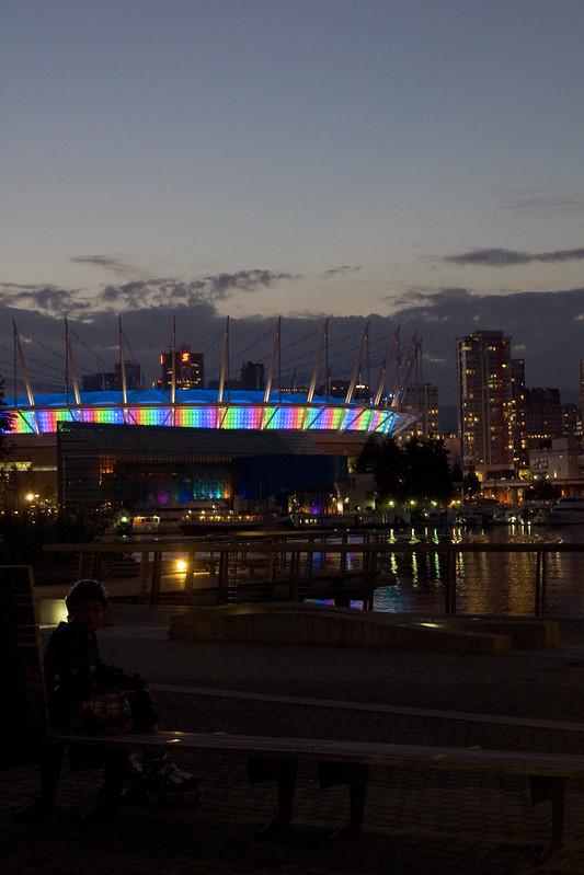 rainbow BC Place