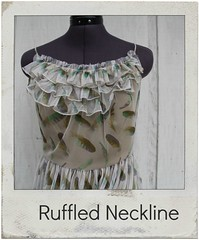 how to make a ruffled neckline
