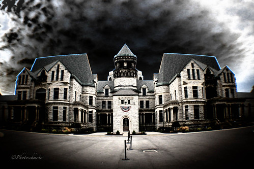 ohio ghost gothic historic haunted creepy fisheye prison jail haunting ghosts paranormal mansfield investigation osr ghosthunt shawshankredemption ohiostatereformatory hauntedohio