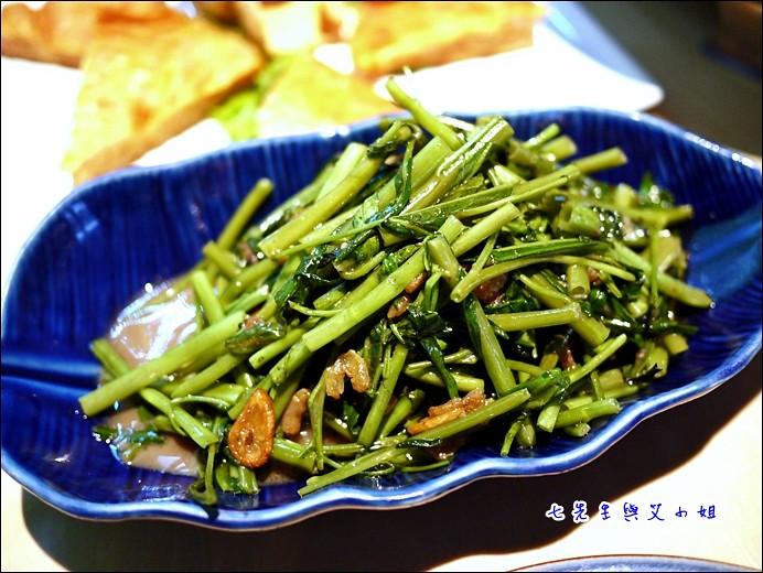 13 蝦醬空心菜