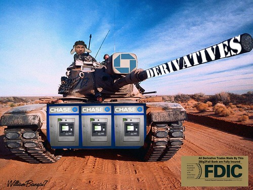 DERIVATIVES BATTLE TANK by Colonel Flick