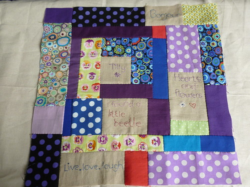 Patchwork heading for a cushion