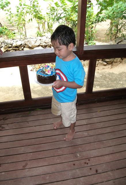 The Birthday Boy with his birthday cake :)