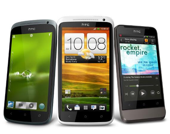 HTC One X, HTC One S y HTC One V