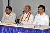 Yogacharya Dr. Ashoke Kumar Chatterjee with Addl. CP I Dr. Sudhir Kumar Mishra and Addl. CP III Mr. Debashis Roy ; Kolkata Police