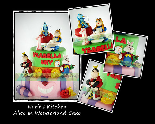 Norie's Kitchen - Alice in Wonderland Cake by Norie's Kitchen