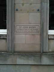 Photo of John Brown stone plaque
