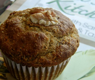 Banana - Walnut Muffins with Dates