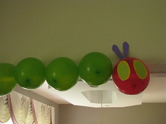 Caterpillar balloons