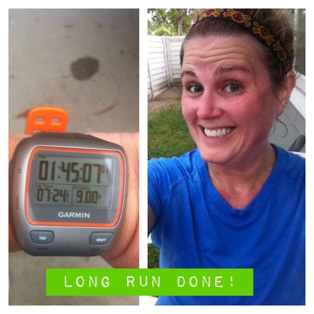 This crazy girl got up at 4:30am and ran 9 miles. 19 miles for the week, and 63 for the month so far! Cray cray to the max! #42milesinAugust #running